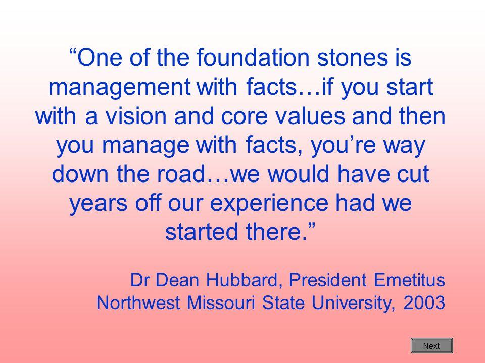 Dr Dean Hubbard, President Emetitus