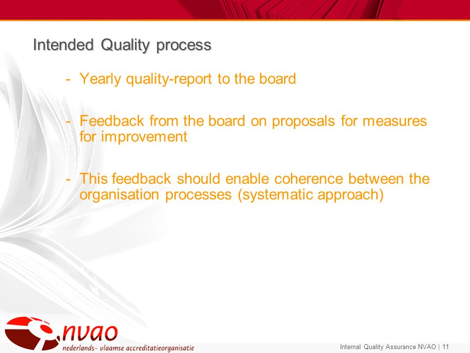 Intended Quality process
