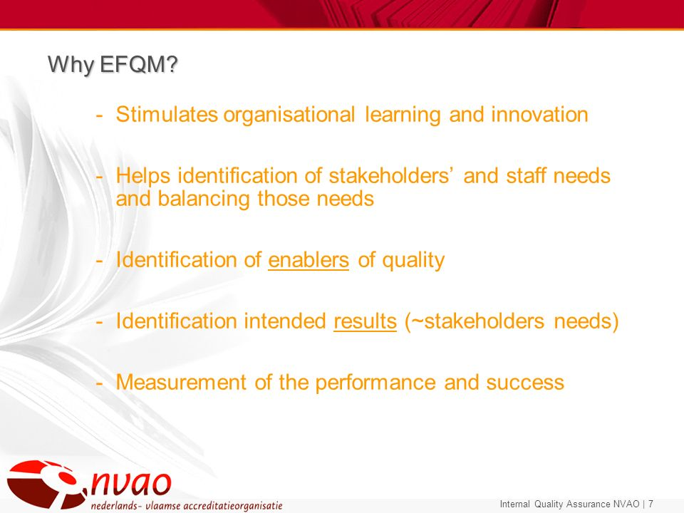 Why EFQM Stimulates organisational learning and innovation