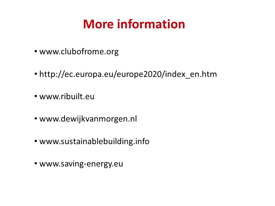 More information www.clubofrome.org
