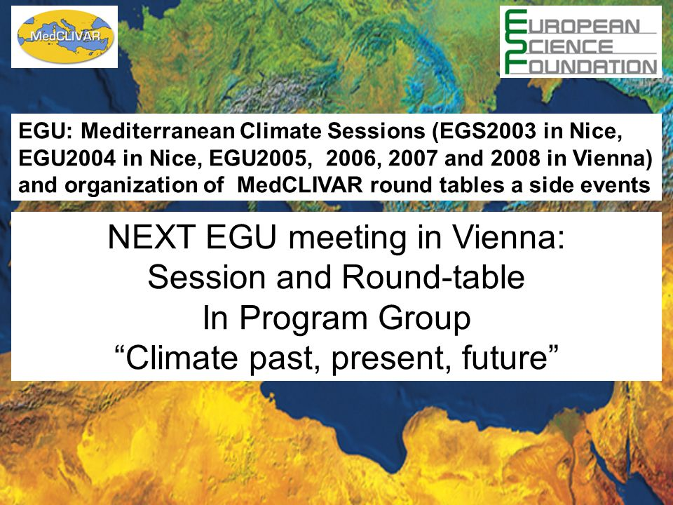 NEXT EGU meeting in Vienna: Session and Round-table In Program Group
