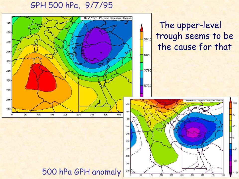 The upper-level trough seems to be the cause for that