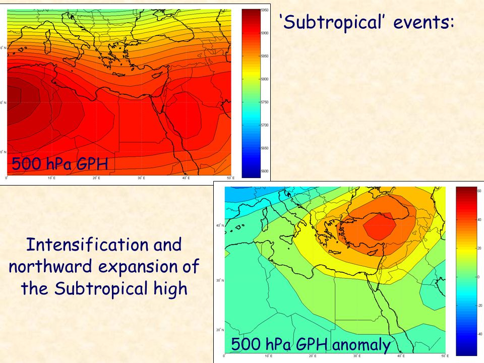 Intensification and northward expansion of the Subtropical high