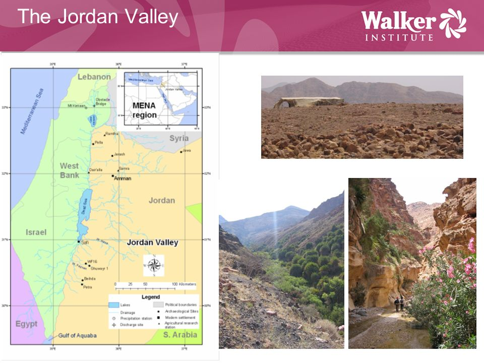 The Jordan Valley Number of sites, particularly going to focus on a couple of sites in S Jordan (parciularly WF16)