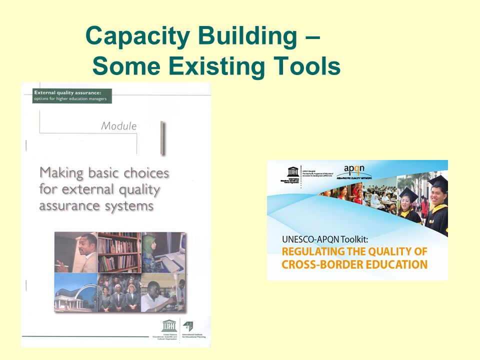 Capacity Building – Some Existing Tools