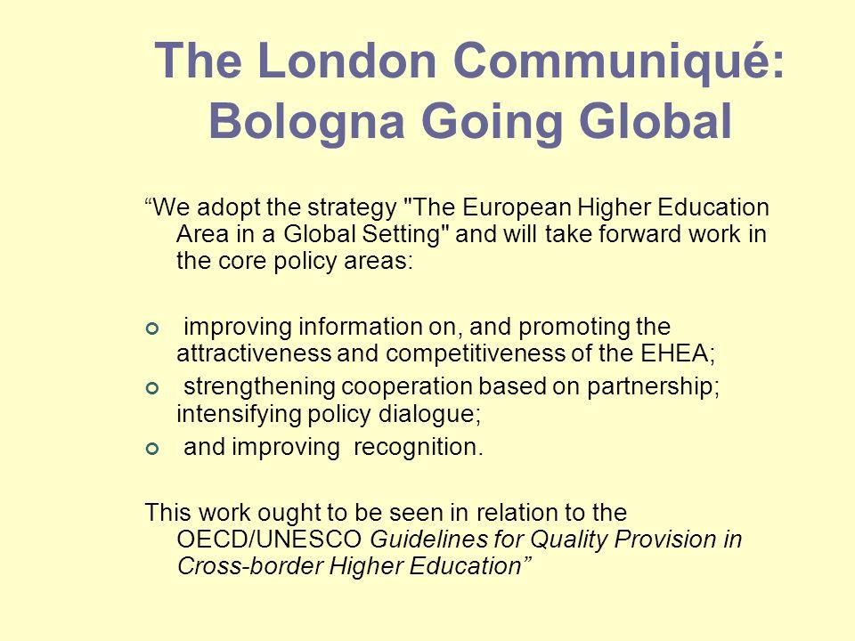 The London Communiqué: Bologna Going Global