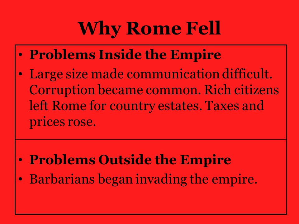 the fall of rome thematic Ancient rome for teachers cicero, caesar, fall of the republic roman empire & emperors roman entertainment - circuses, coliseums, gladiators, theatres.