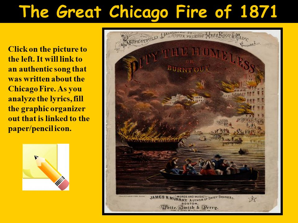 great chicago fire essay The great chicago fire a bird's-eye view of pre-fire chicago describes the remarkable growth of chicago in the decades preceding the fire, while the great  essays.