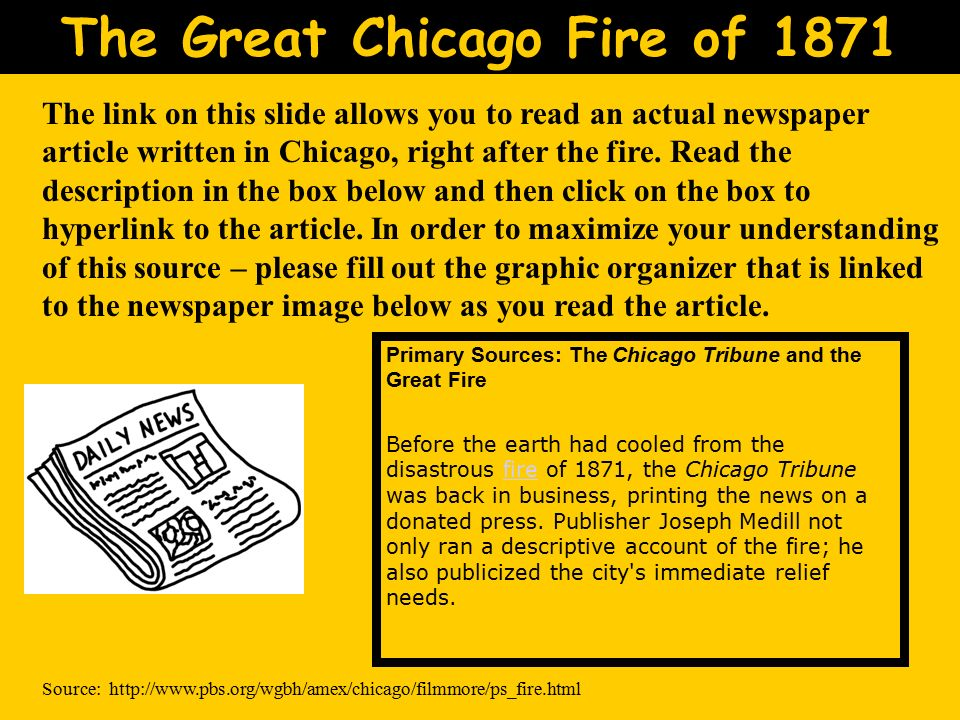 the chicago fire of 1871 essay What (or who) caused the great chicago fire  1871 the chicago fire the flames checked at last richmond whig, october 13, 1871 the great fire that wiped out chicago.