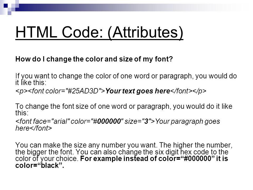 Understanding Html Code Ppt Video Online Download