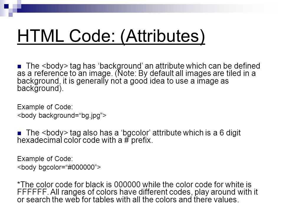 Html background attributes background ideas for Table tag attributes in html