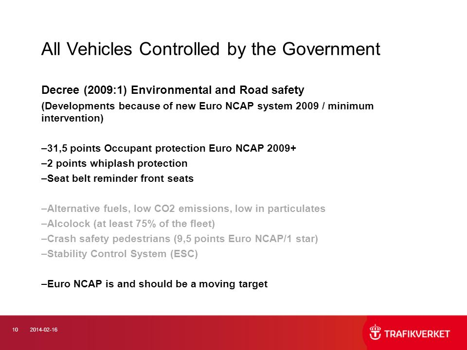 All Vehicles Controlled by the Government
