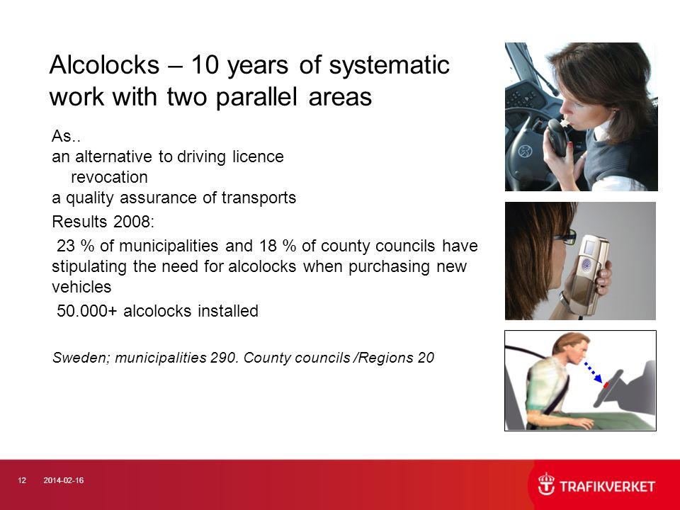 Alcolocks – 10 years of systematic work with two parallel areas