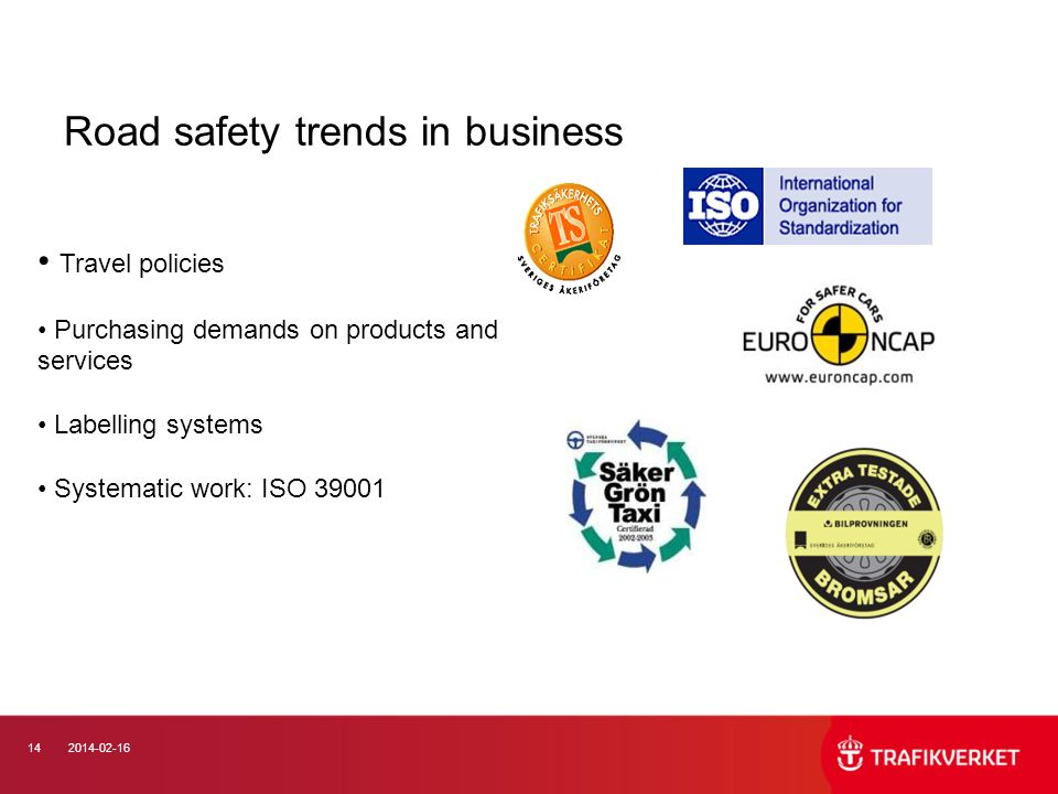 Road safety trends in business