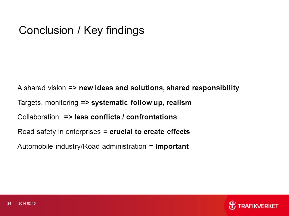 Conclusion / Key findings