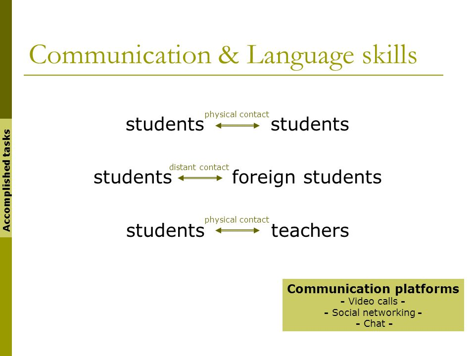 Communication & Language skills