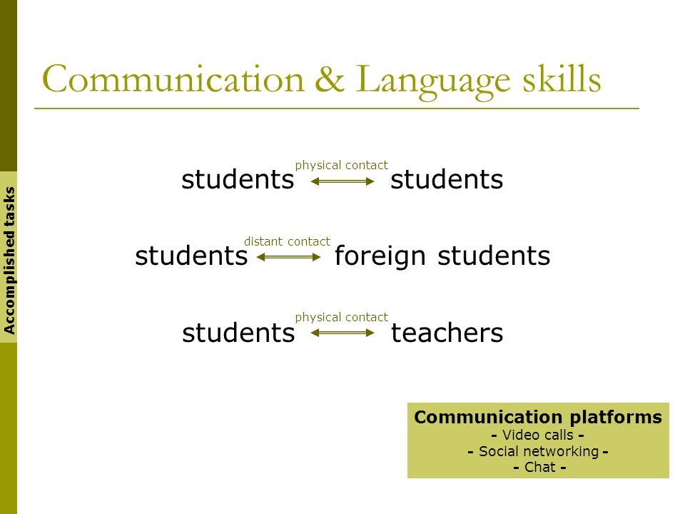 Communication & Language skills