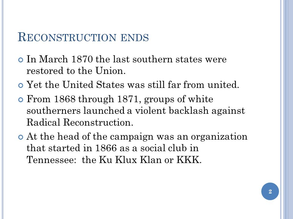 a history of the ku klux klan a social club in the united states The ku klux klan's long history of violence grew out of the -town life that led six young confederate veterans to gather around a fireplace one december evening in 1865 and form a social club the place powerful social forces were at work in the united states following world.