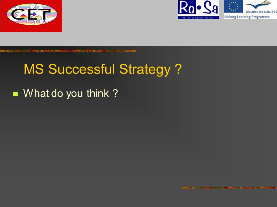 MS Successful Strategy