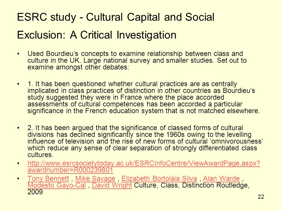 Investigating the social exclusion essay