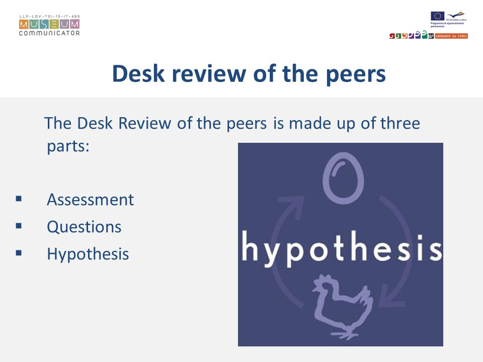 Desk review of the peers