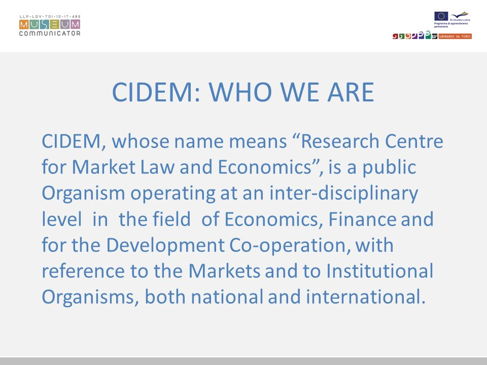 CIDEM: WHO WE ARE