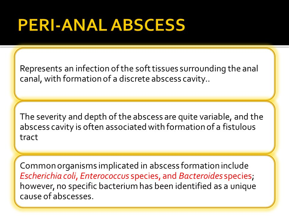 Who's Anal abscess infection could