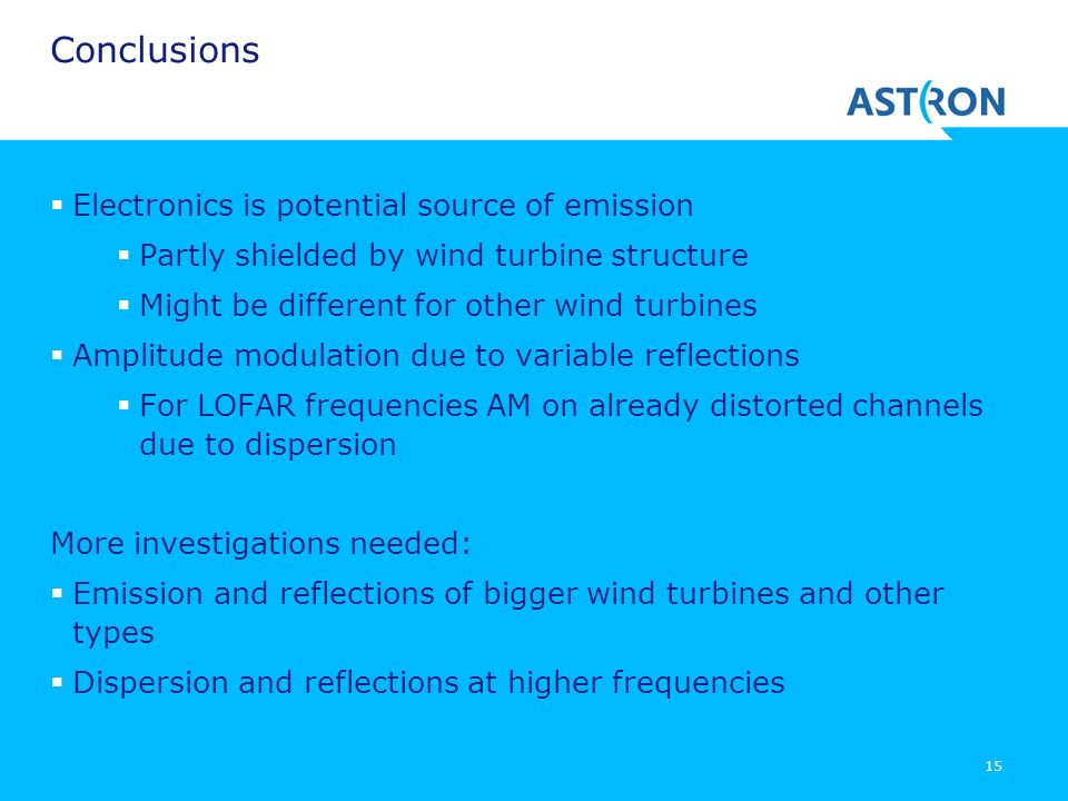 Conclusions Electronics is potential source of emission