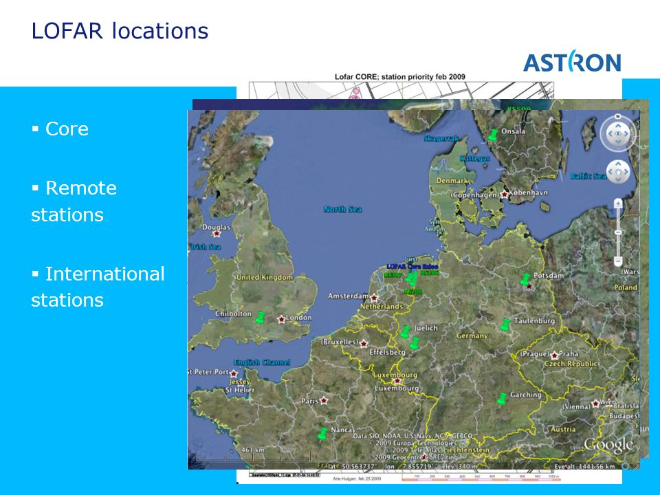 LOFAR locations Core Remote stations International stations