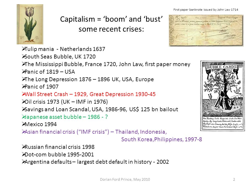 Capitalism = 'boom' and 'bust'
