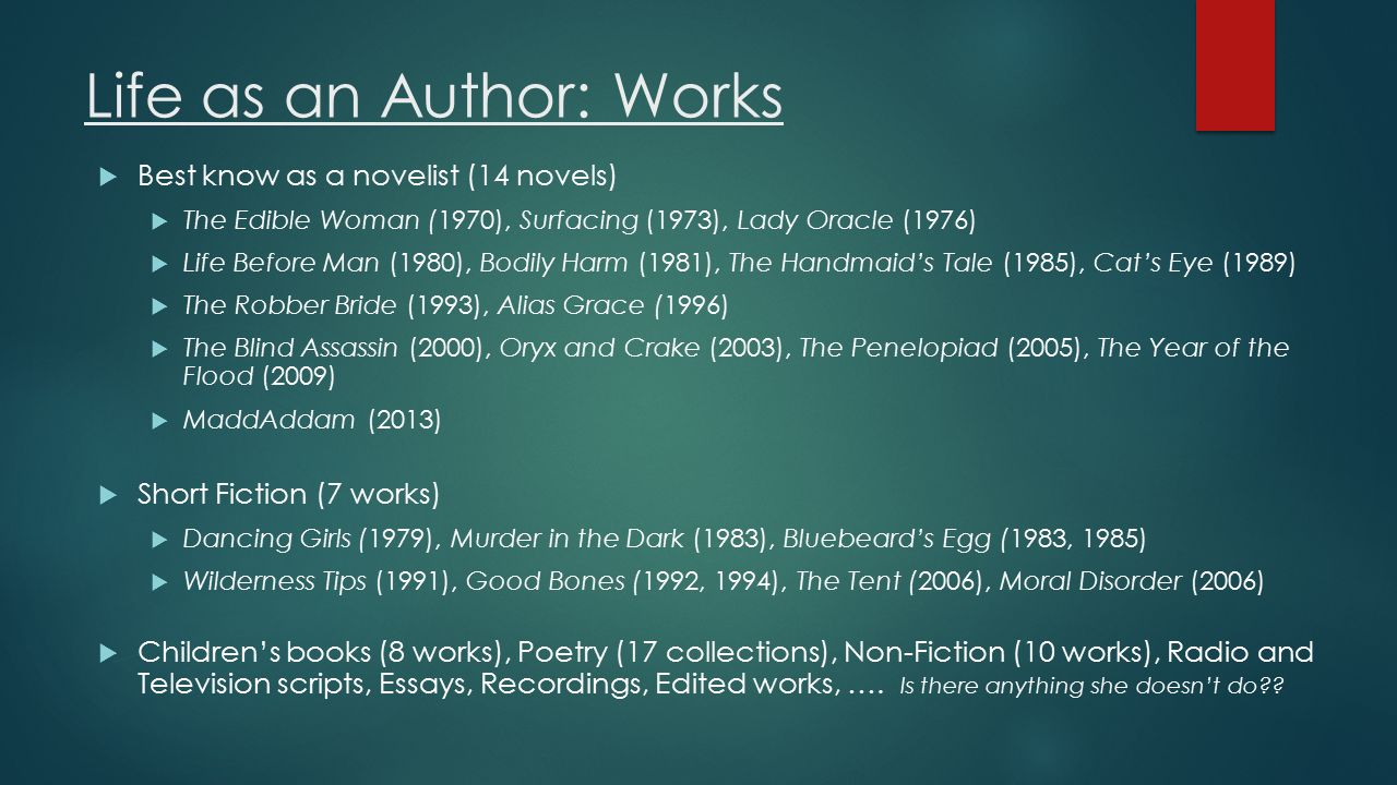 "the handmaid s tale"" novel study ppt video online  4 life"
