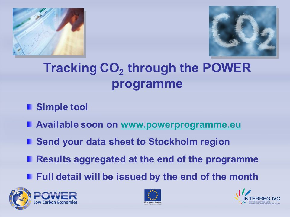 Tracking CO2 through the POWER programme