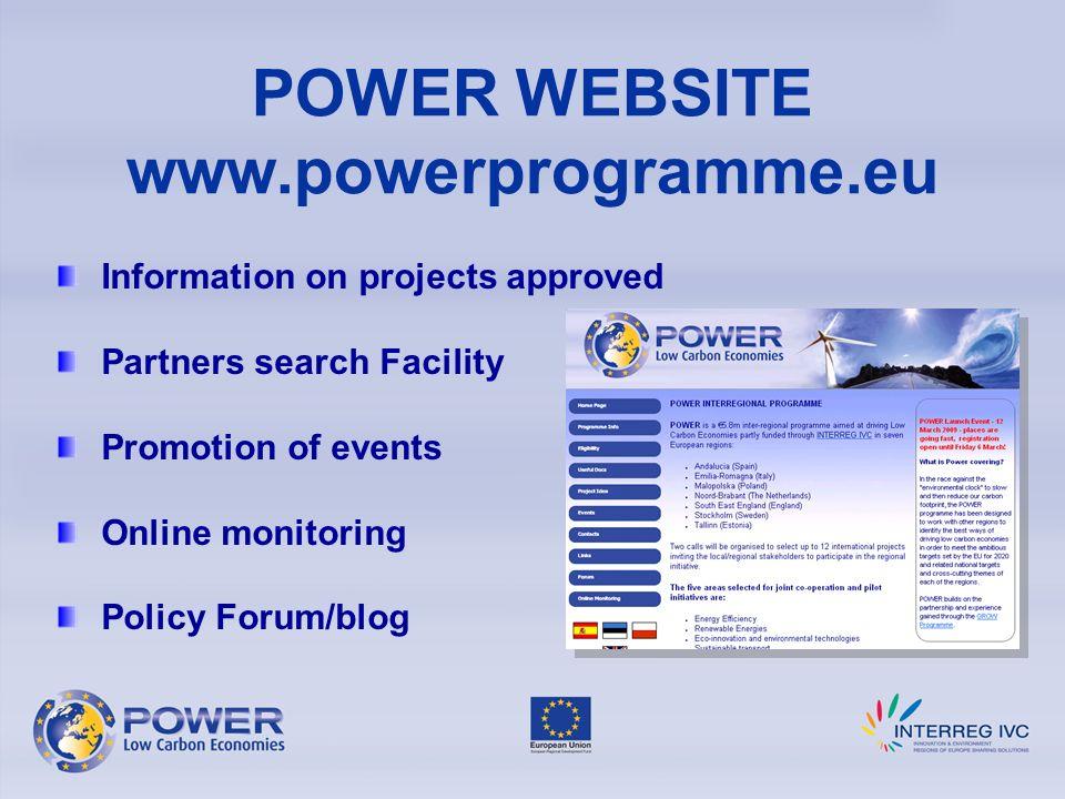 POWER WEBSITE www.powerprogramme.eu