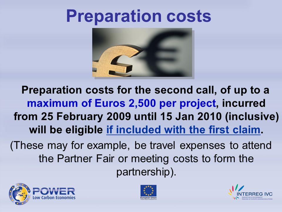 Preparation costs