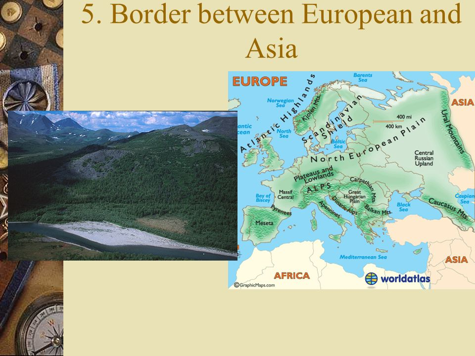 5. Border between European and Asia