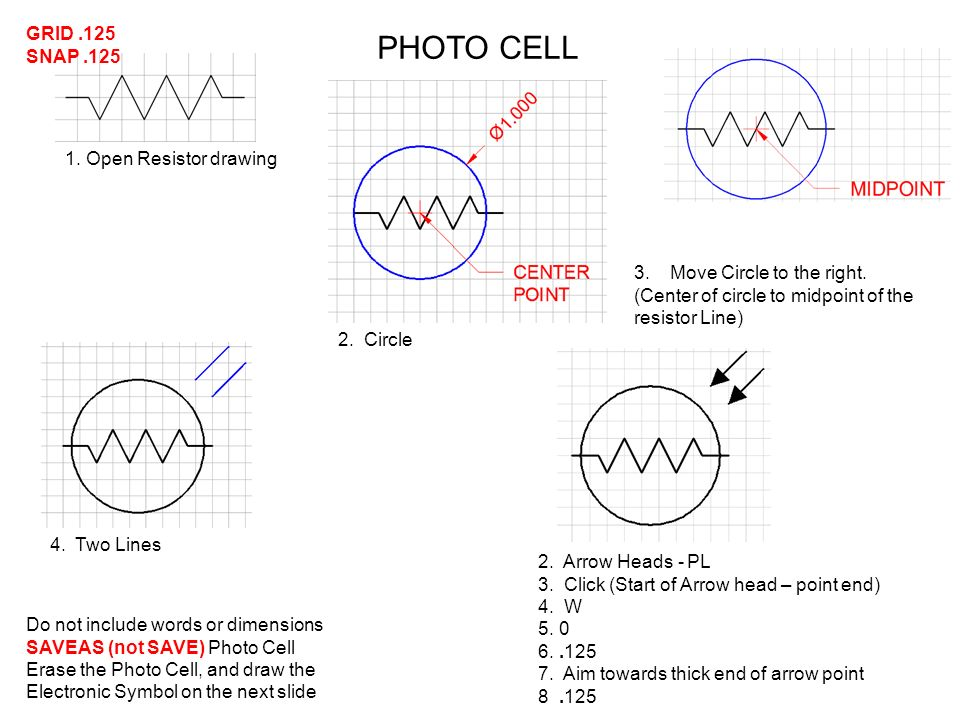 photocell schematic symbol