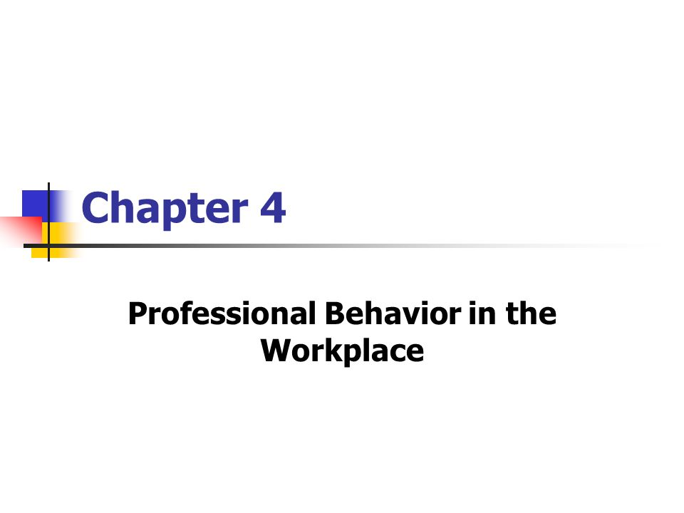 professional behavior workplace essay