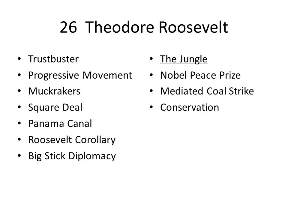 theodore roosevelt the trust buster