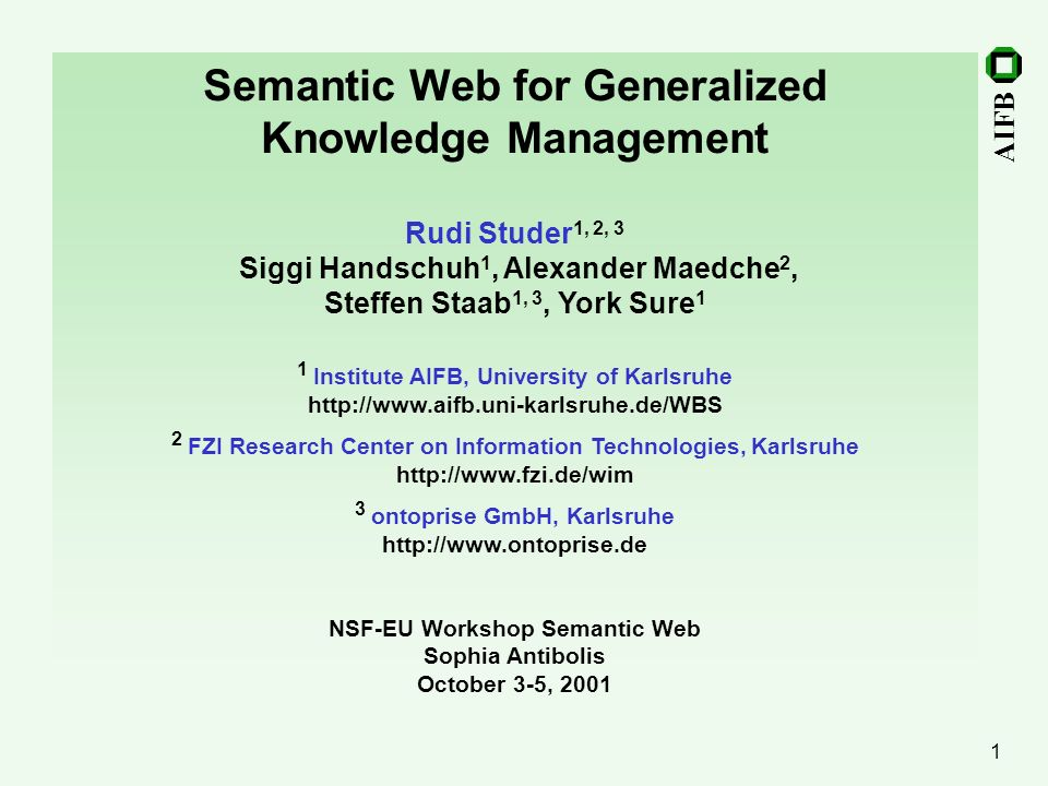 Semantic Web for Generalized Knowledge Management