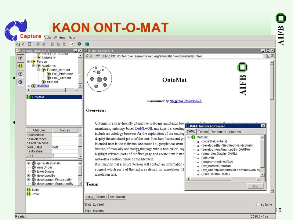 KAON ONT-O-MAT Capturing and Annotation Authoring and Annotation
