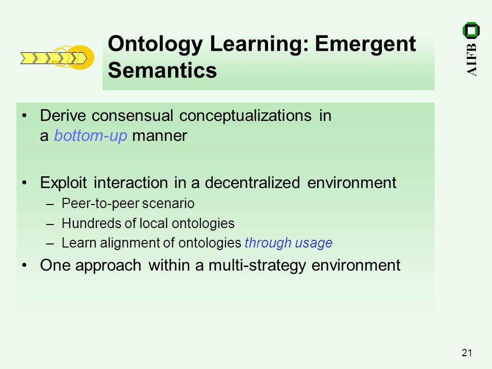 Ontology Learning: Emergent Semantics