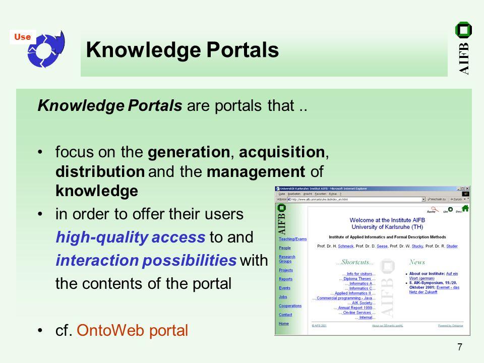 Knowledge Portals Knowledge Portals are portals that ..