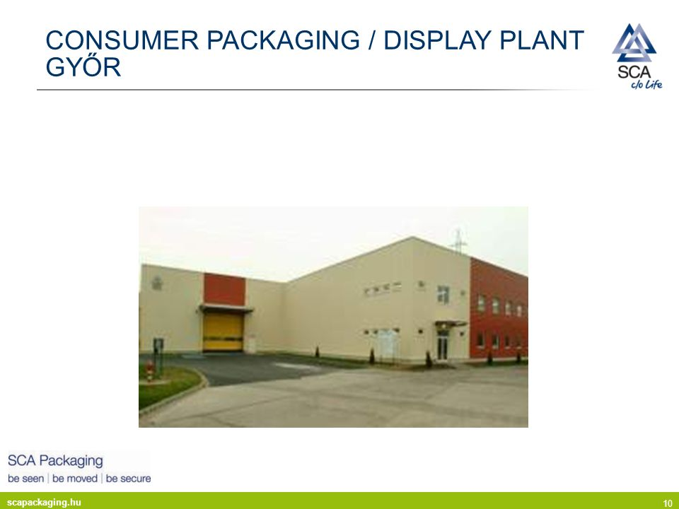 CONSUMER PACKAGING / DISPLAY PLANT GYŐR