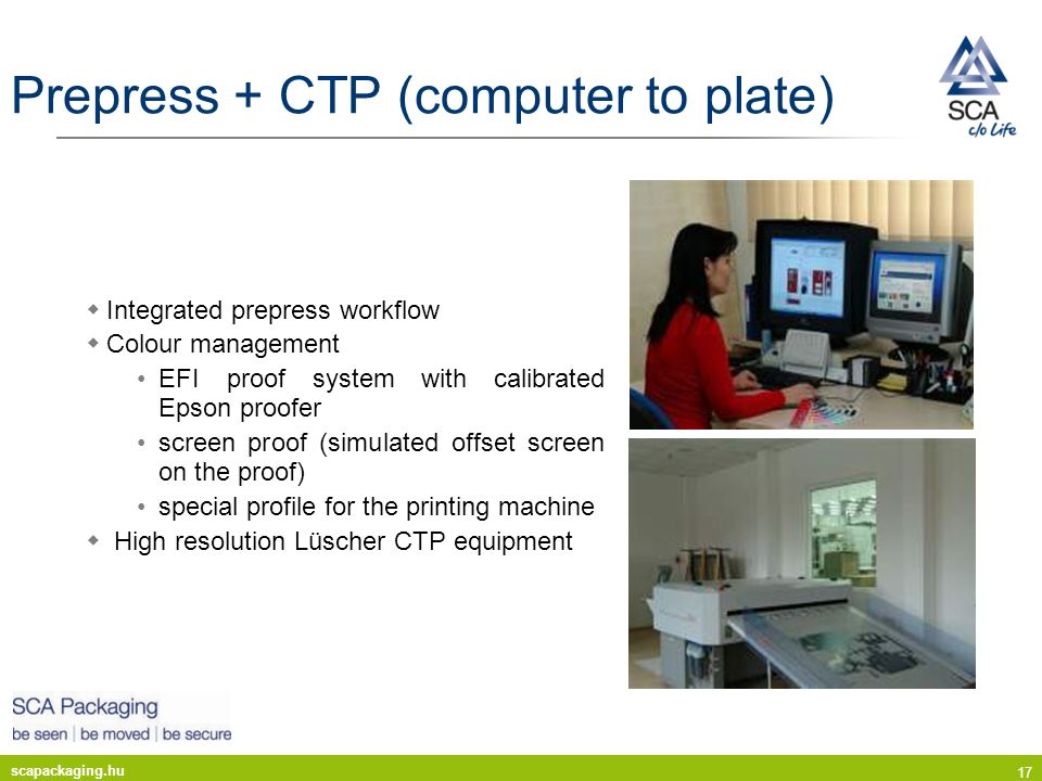 Prepress + CTP (computer to plate)