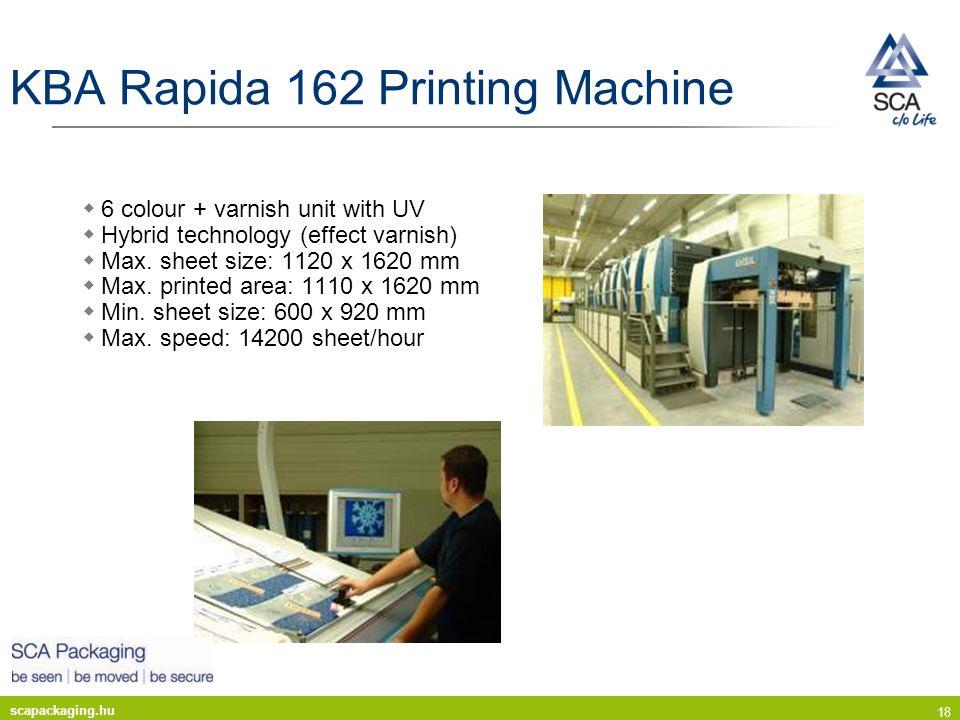 KBA Rapida 162 Printing Machine