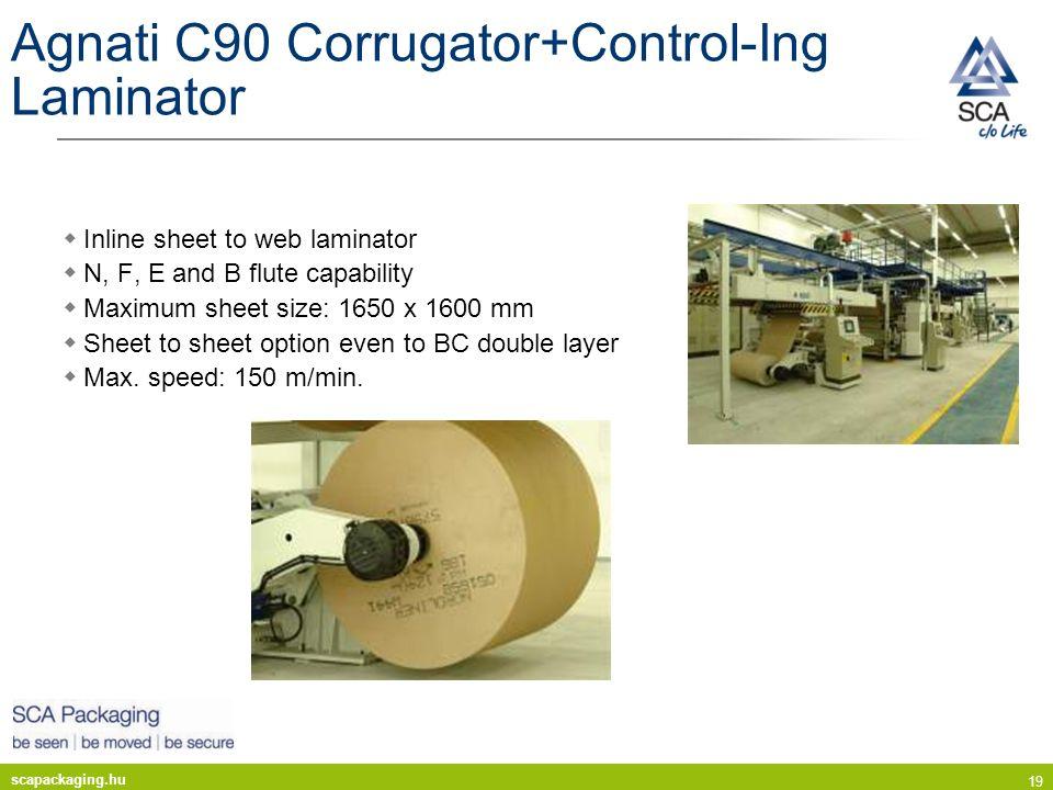 Agnati C90 Corrugator+Control-Ing Laminator