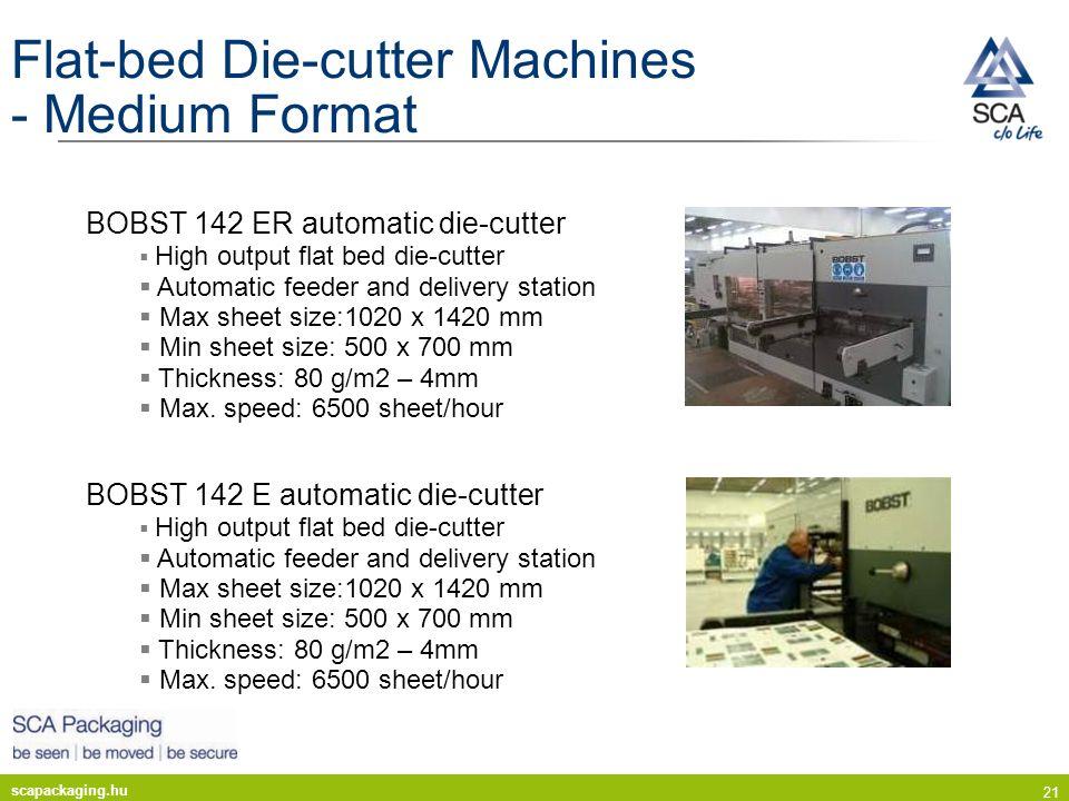 Flat-bed Die-cutter Machines - Medium Format