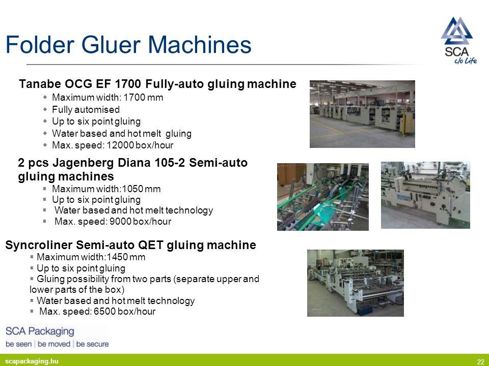 Folder Gluer Machines Tanabe OCG EF 1700 Fully-auto gluing machine