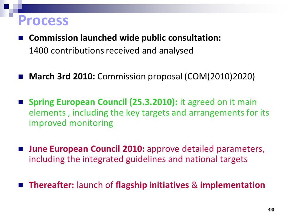 Process Commission launched wide public consultation: