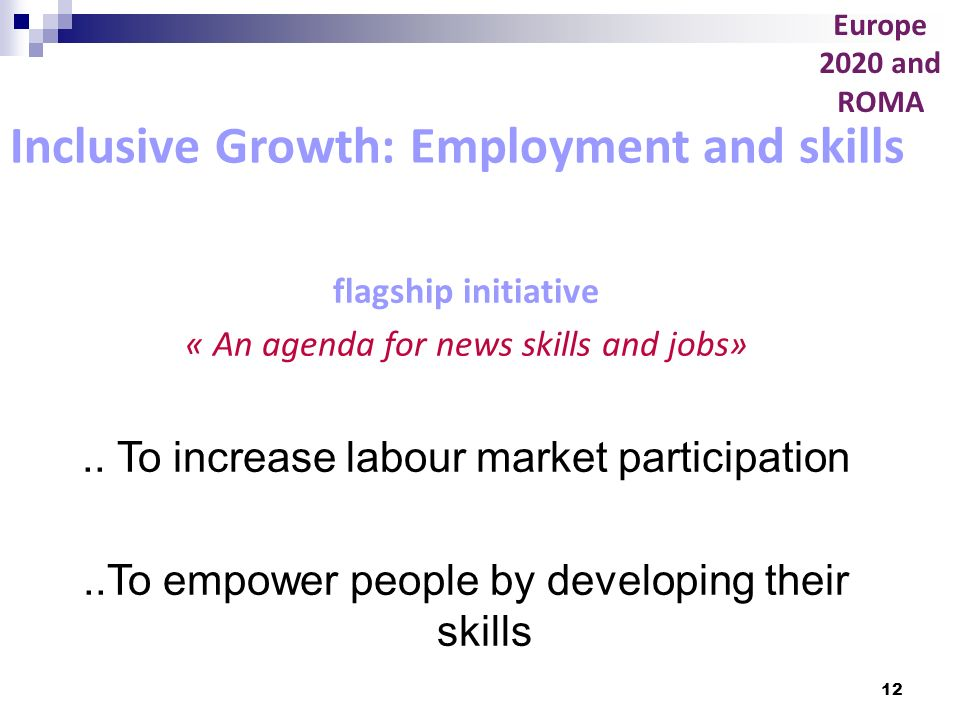 Inclusive Growth: Employment and skills